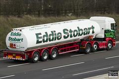Scania R440 6x2 Tractor with Fuel Tanker - PJ11 AVY - Carol Jo - Eddie Stobart - M1 J10 Luton - Steven Gray - IMG_4912