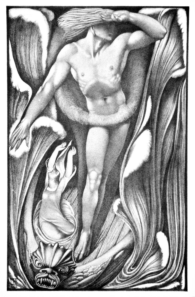 Vernon Hill - Illustration from  Ballads Weird and Wonderful, 1912 (The Demon Lover)