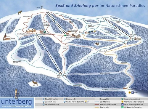 Unterberg - mapa sjezdovek