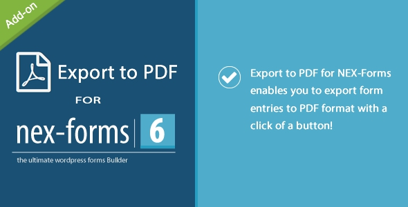 Export to PDF for NEX-Forms