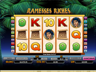 Ramesses Riches Free Spins
