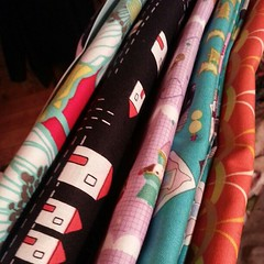 Fun fabrics in the mail. #sewmamasew #sewing #crafting