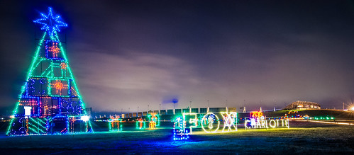 christmas lights at lowes motor speedway by DigiDreamGrafix.com