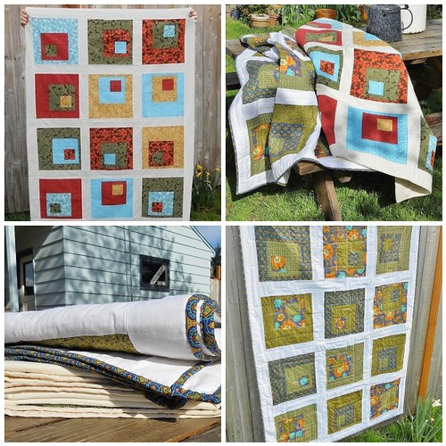 Concrete Log Cabin Quilt