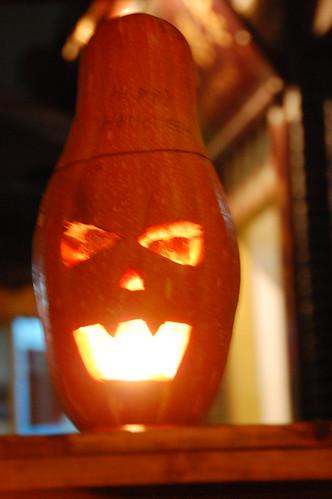 squash jack-o-lantern