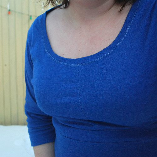 Blue Ballet Dress neckline detail