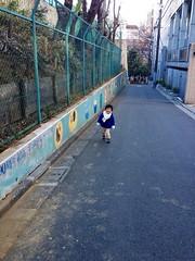 坂を登る 2013/1/11
