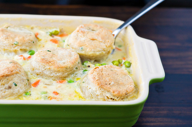 Chicken Pot Pie With Cream Cheese And Chive Biscuits Cook Like A