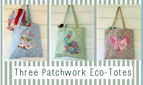 Three Patchwork Eco-Totes
