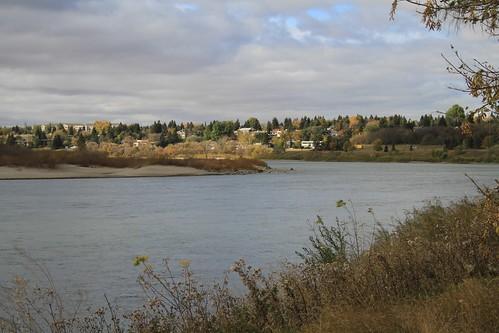 autumn trees canada fall colors leaves river trails valley saskatoon saskatchewan meewasin