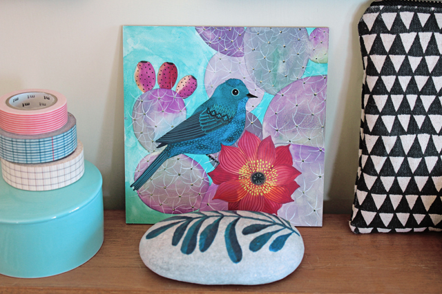 Bluebird & Opuntia