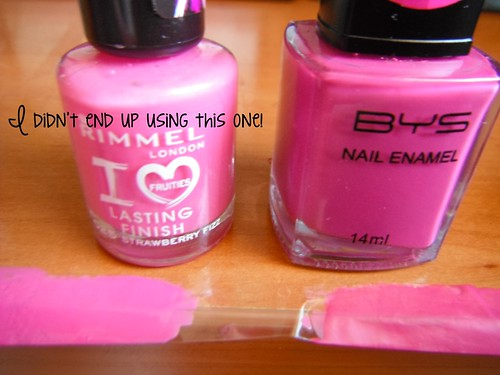 Pink and colour changing polish