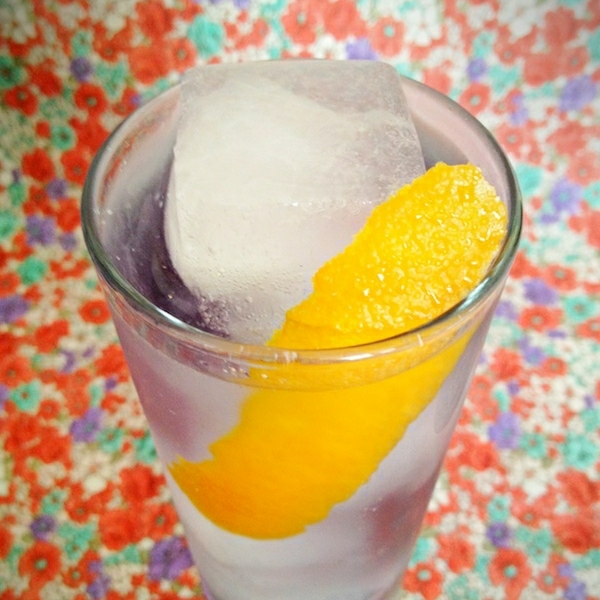 Orange-Violet Gin Cocktail