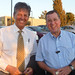 Mayor Ron Nachman of Ariel (r) and Bill Koenig (l) in Jerusalem, August 23, 2011