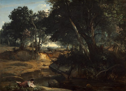 Camille Corot - Forest of Fontainebleau [1834] by Gandalf's Gallery
