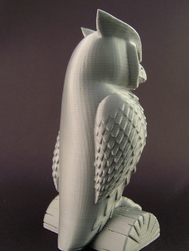 3D-printed owl (back)