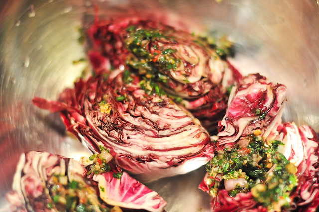 Charred Radicchio With Balsamic Vinegar and Bacon
