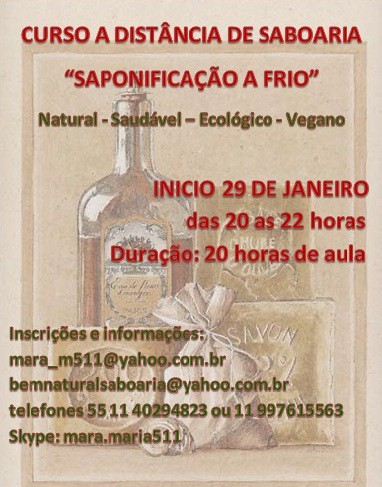 CURSO A DISTANCIA DE SABOARIA NATURAL by MARA MARIA - Saboaria cold process