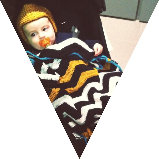 couverture bébé chevron au crochet
