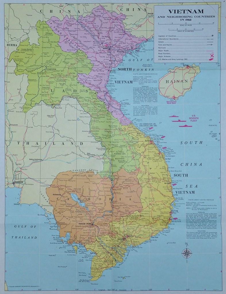 Vietnam Map 1968 North South Map Of Vietnam 1968 Draw Flickr