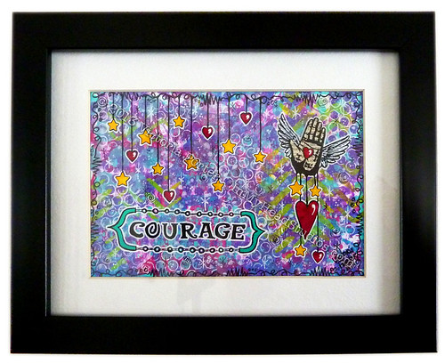 """Courage"" Monoprint (1)"