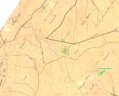 Extrait du Cadastre Napoléonien pour le secteur des bergeries de Luviu et de ses environs