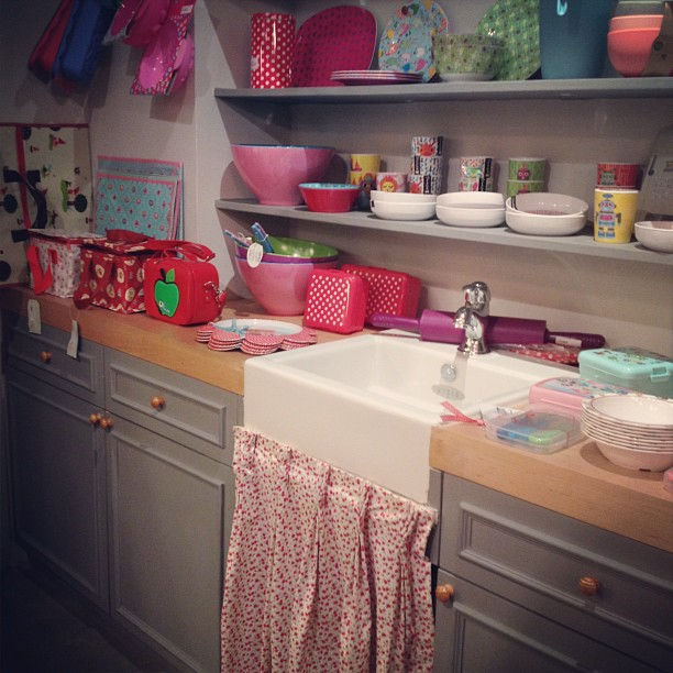 "Cute ""kitchen"" at a children's store called #petitbazaar in #hk #hongkong"