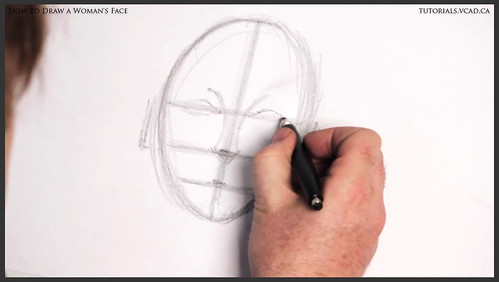 learn how to draw a womans face 006