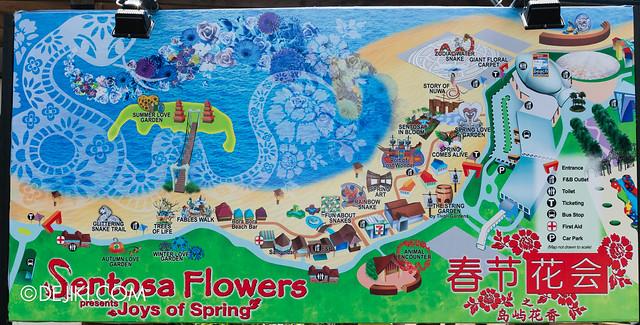 Sentosa Flowers 2013 - Map