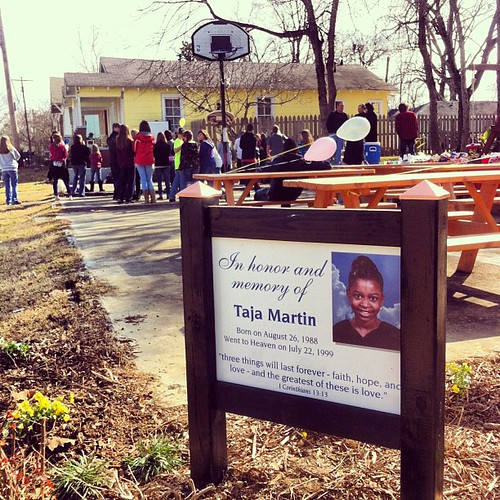 Memorial sign for Taj. 2-9-13 #memorial #wewillgo #kidsday