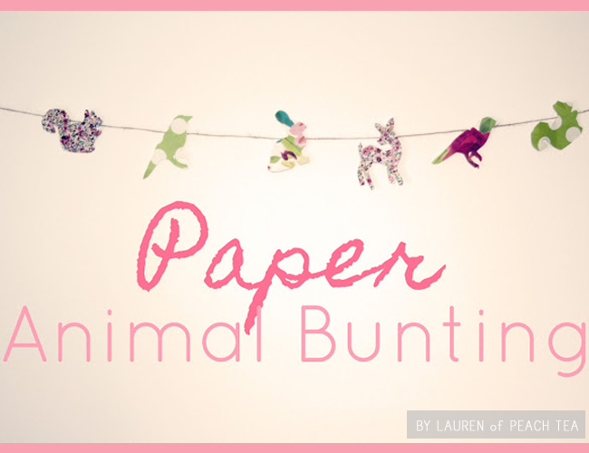 FavoriteDIY animalbunting