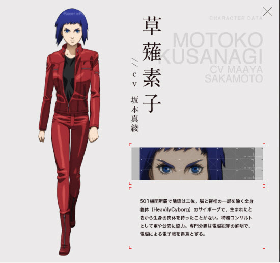 Motoko Kusanagi(草薙素子)CV Maaya Sakamoto(坂本真綾)