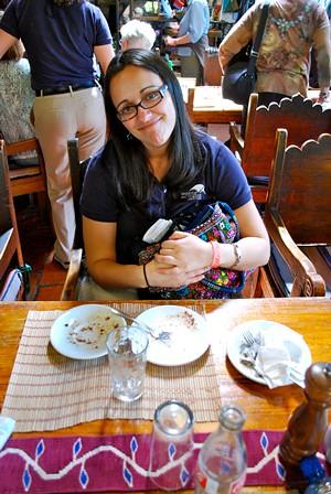 Katie desserts at Posada