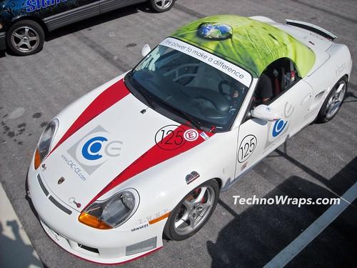 Porsche car wrap Orlando