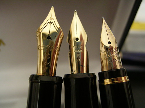 Three Japanese Flex Nibs