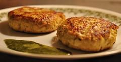 meal(0.0), vegetable(0.0), meat(0.0), produce(0.0), dessert(0.0), breakfast(1.0), fried food(1.0), crab cake(1.0), vegetarian food(1.0), fritter(1.0), food(1.0), dish(1.0), cuisine(1.0),