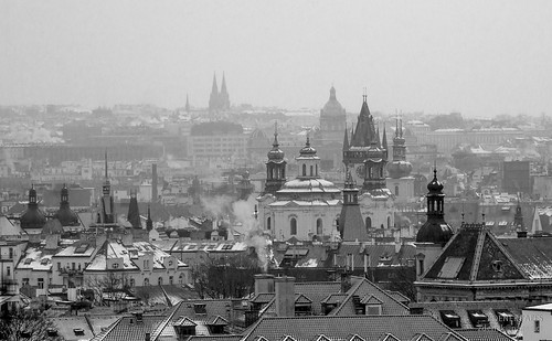 Prague snows by Zdenek Papes