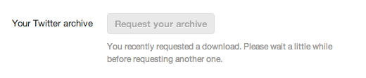 Twitter Archive Button