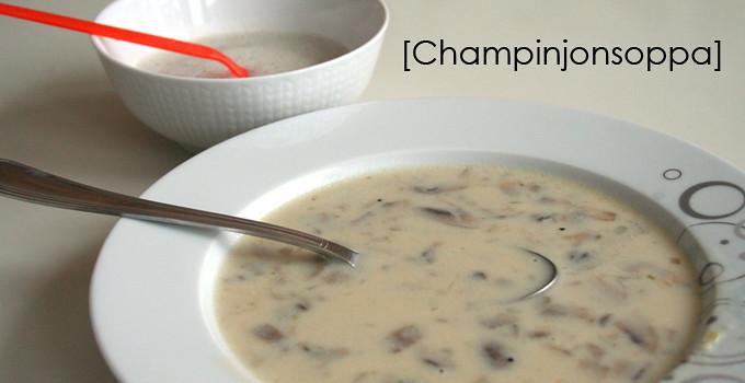 Svampsoppa med champinjoner