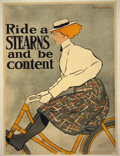 Ride a Stearns [bicycle] and be content (1896)