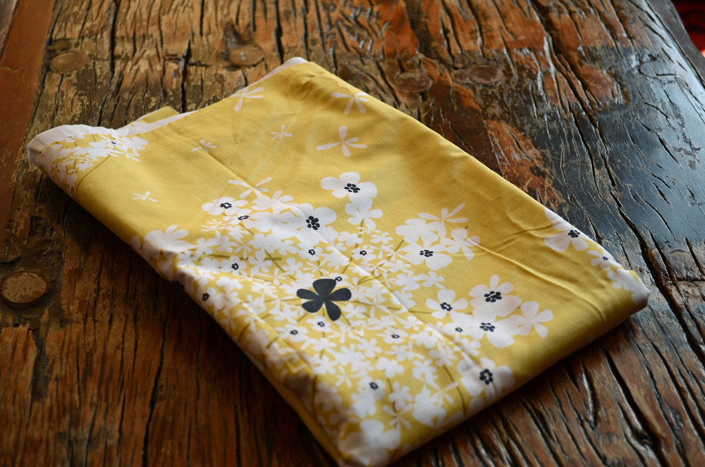 Yellow floral fabric