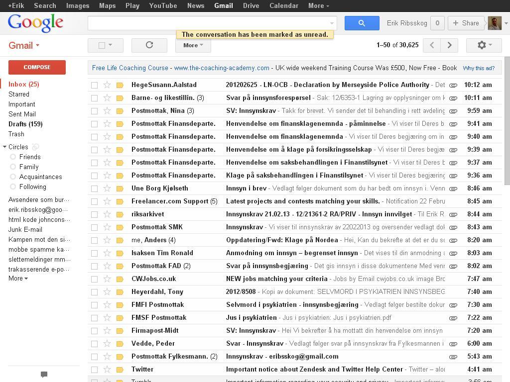 masse rare e-poster innsynskrav spoofing