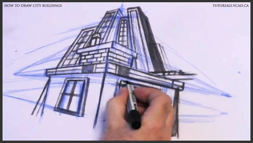 learn how to draw city buildings 030