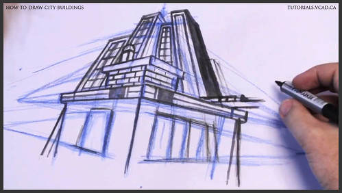 learn how to draw city buildings 028