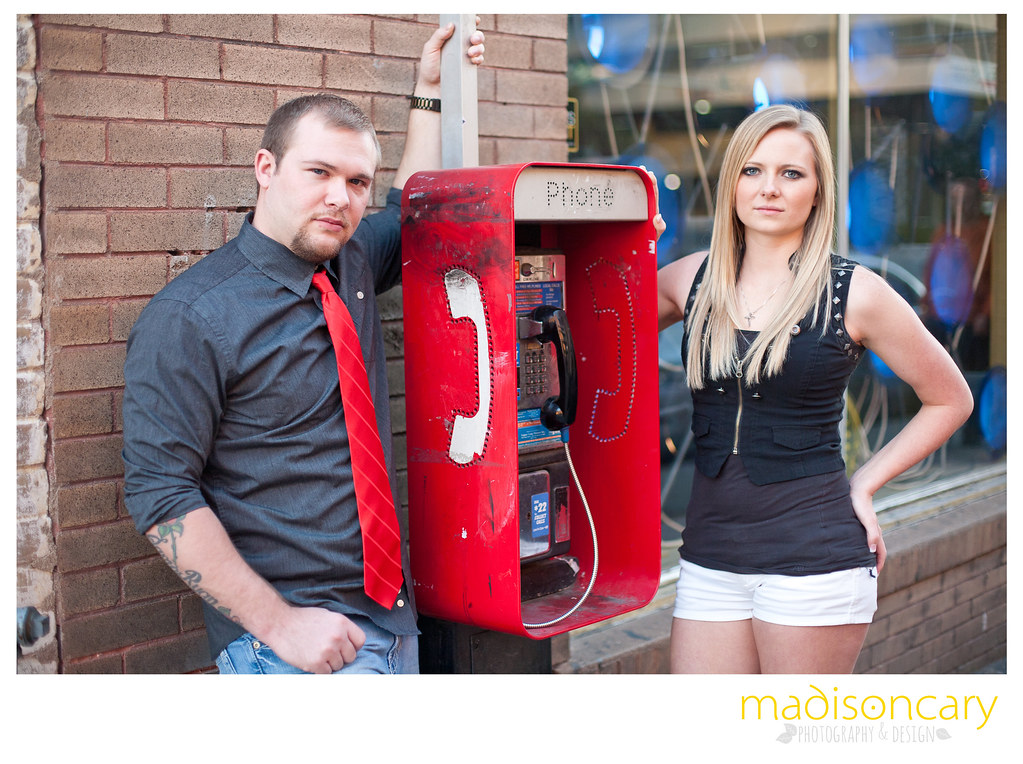 downtown austin texas engagement shoot with old payphone