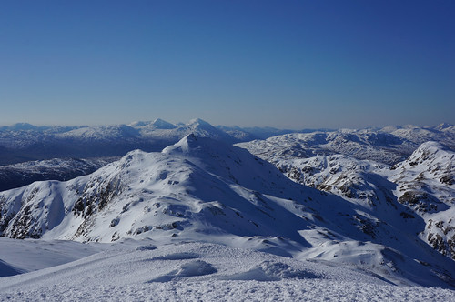 Meall Garbh from Meall nan Tarmachan, Ben More and Stob Binnein in the background