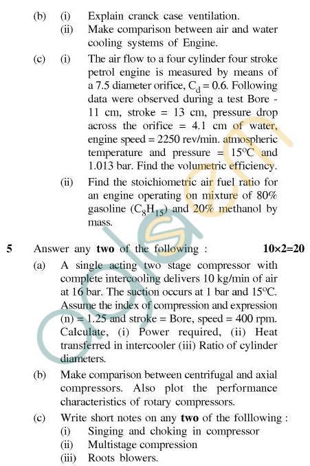 UPTU B.Tech Question Papers - TME-602 - I.C. Engine
