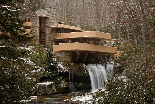 Fallingwater House Over The Waterfall Flickr Photo