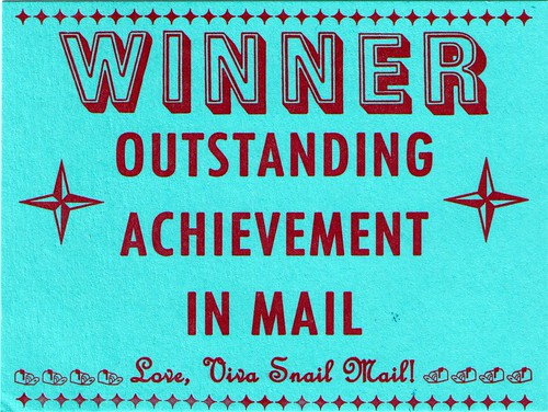 outstanding achievement in mail