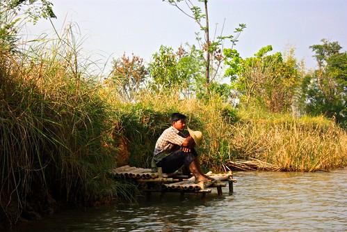 taking a break on the river